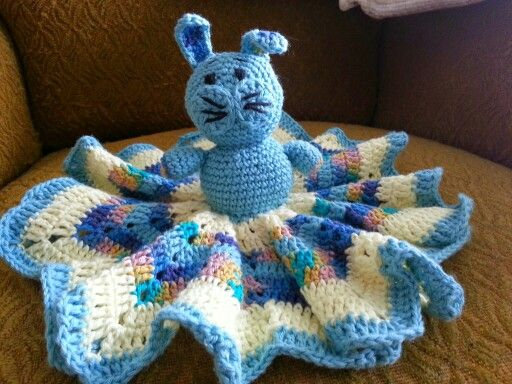 Rabbit cuddle cloth for a baby.