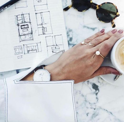 We love how chic a coffee break looks over at @daniellesiggerud place