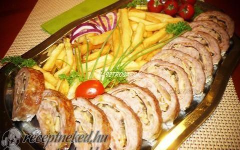 Töltött darált hús recept fotóval