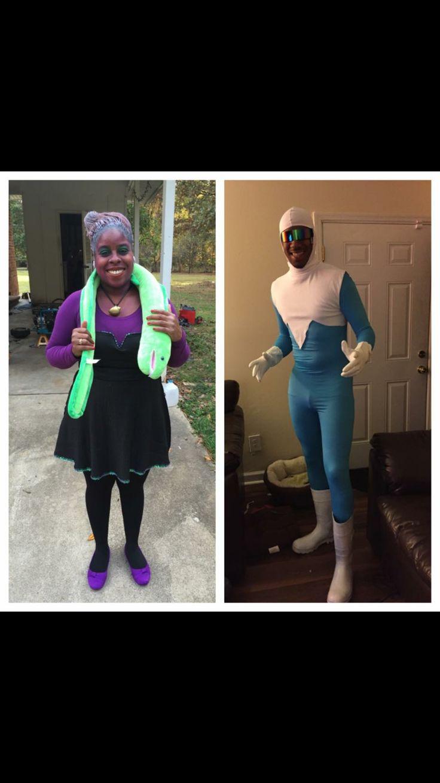 DIY Ursula and Frozone costumes!