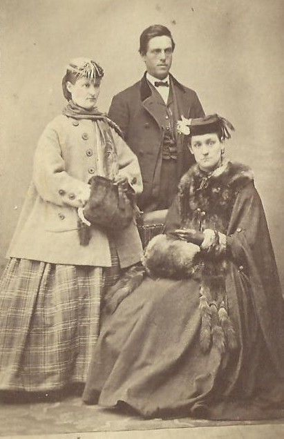 CDV Photo Young Group of Victorian Socialites Dressed in Winter Fashion Signed | eBay