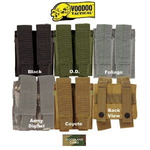 voodoo tactical molle Double Pistol Mag Pouch
