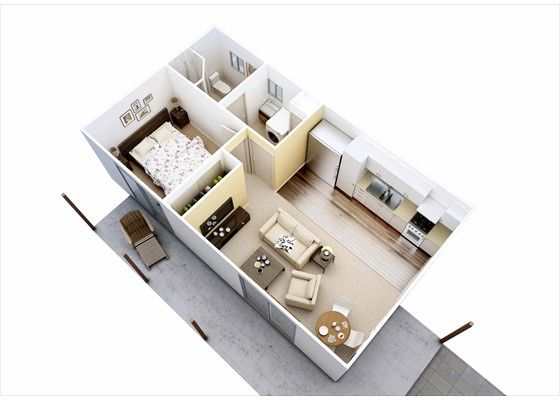 granny flat 45 square meter