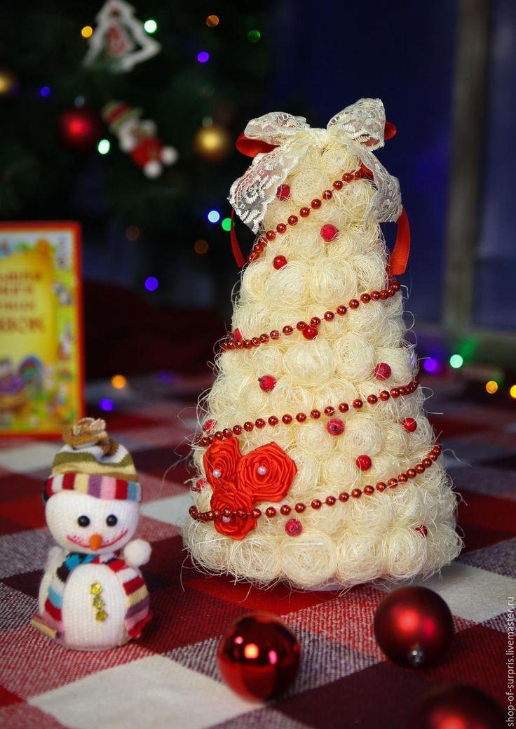 Купить Ёлочки из сизаля - Новый Год, новогодний подарок, купить подарок, Новогодние сувениры
