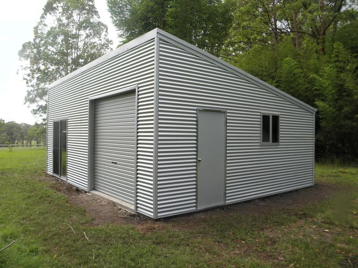 Backyard garage or studio built by MacLeay Valley Sheds, Australia.
