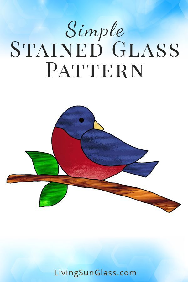 Simple Stained Glass Pattern For A Bird Suncatcher Stainedglass