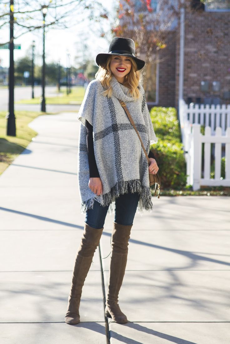 Little Blonde Book by Taylor Morgan | A Life and Style Blog : Plaid Poncho