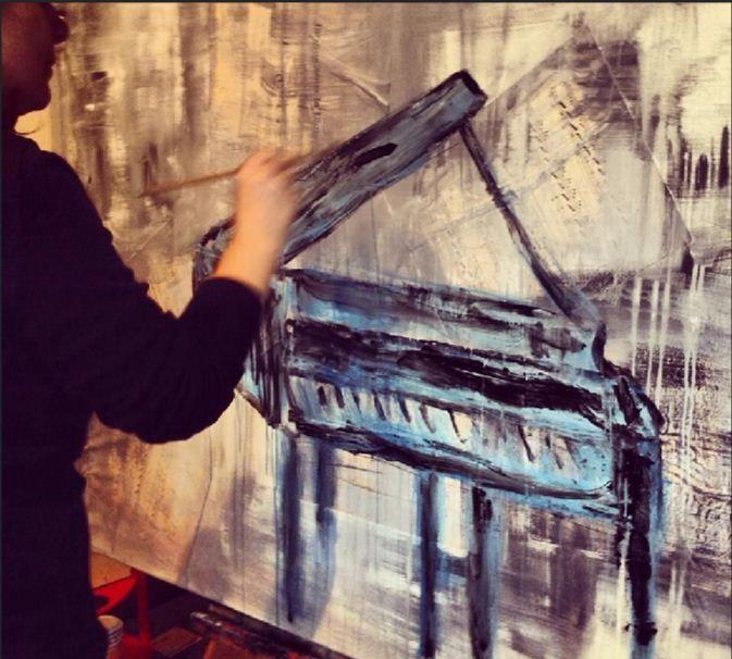 """EXPOSIÇÃO """"music"""" – pintura de Natália Gromicho"""