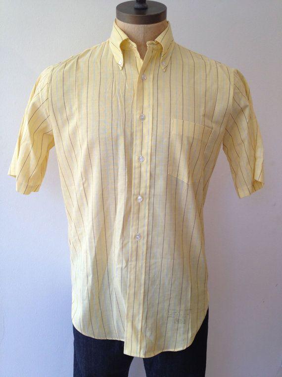 Vintage MENS Arrow Cum Laude striped shirt circa by pandaJpanda, $20.00