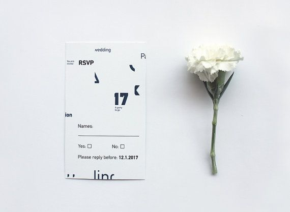Typography wedding invitation. by MessProject on Etsy, €30.00  #weddinginvitation #weddingprint #wedding #invitation #diy #piy #monogram #savethedate