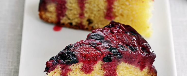 Frozen berries like raspberries, blackberries and blackcurrants are great to keep in the freezer for impromptu puddings. They make this rich almond cake even more luxurious.