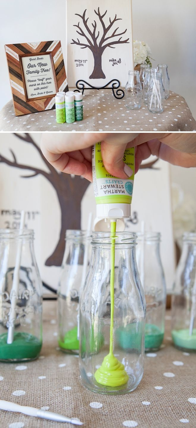 DIY Wedding // The Painted Guest Book Tree!