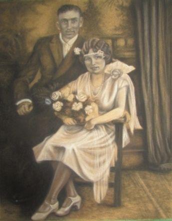 Grandma and Grandad's wedding portrait