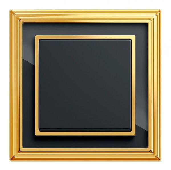 ABB Династия (dynasty). Рамка - латунь полированная и черное стекло.  #Архитоника #arhitonika