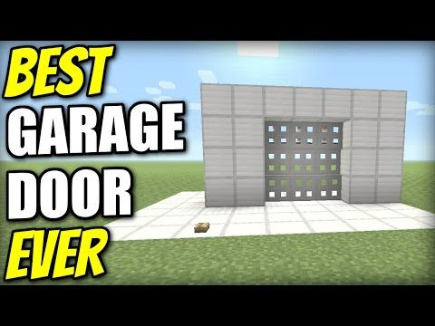 Minecraft PS4 - GARAGE DOOR 3x3 [ BEST EVER ] Tutorial - PE