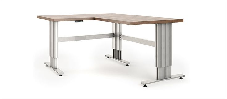 Höhenverstellbare Tischuntergestell SL für 2 bis 4 Beine – Ergoswiss AG