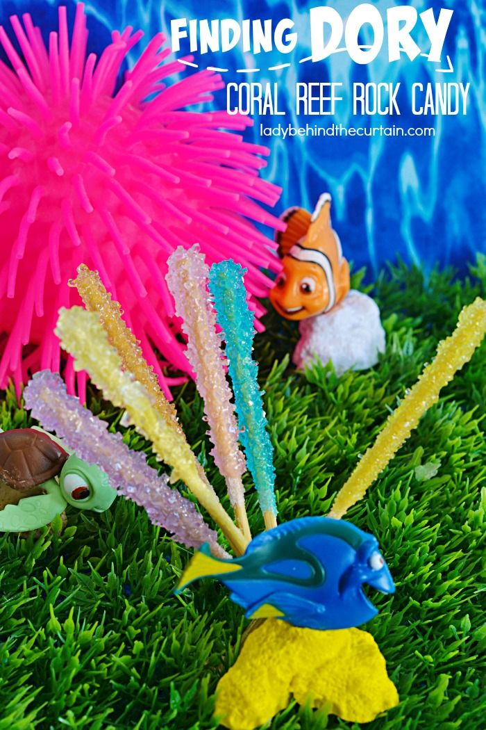 How to Make Finding Dory Coral Reef Rock Candy   With just two ingredients you can create your own science project this summer by making your own rock candy!