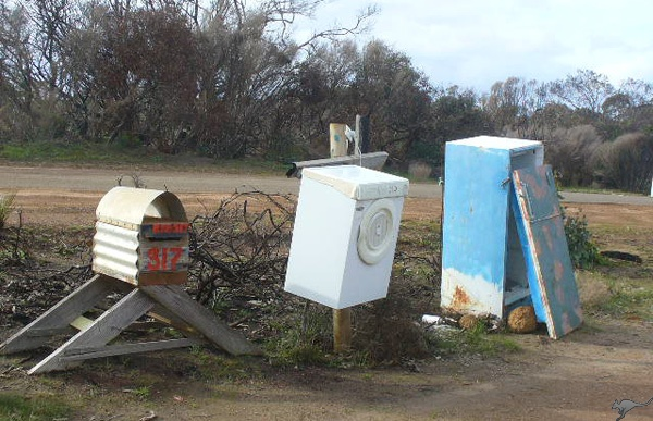 Critter-proof mailboxes on Kangaroo Island, South Australia