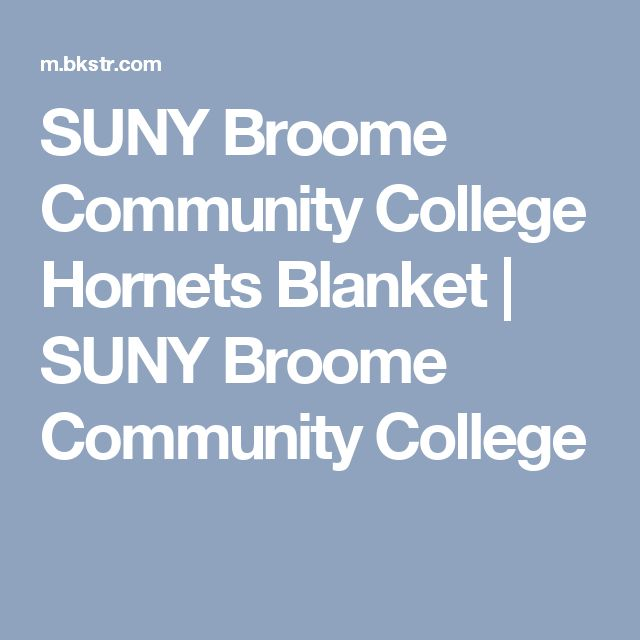 SUNY Broome Community College Hornets Blanket | SUNY Broome Community College
