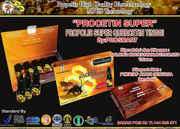proCETIN SUPER,,,140mg/ml kandungan QUERCETIN, 10X LIPAT dari propolis di pasaran