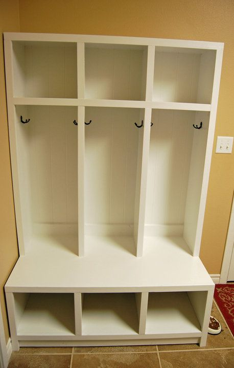 Mudroom idea - wonder if my kids would actually utilize this?