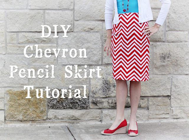 Chevron Pencil Skirt Tutorial