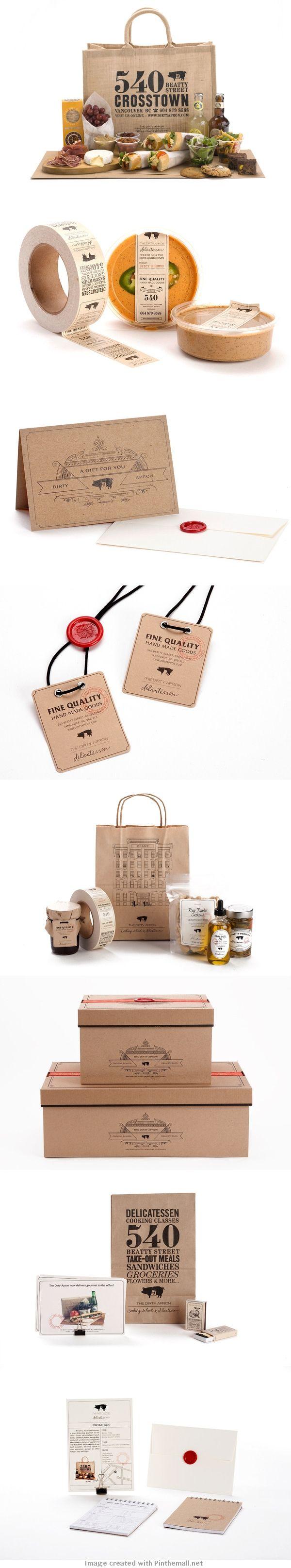 The Dirty Apron Delicatessen   Branding via Behance