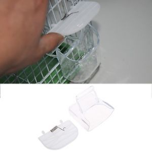 a creative bird pet food feeder waterer hanging aviary cage parrot budgie lovebird