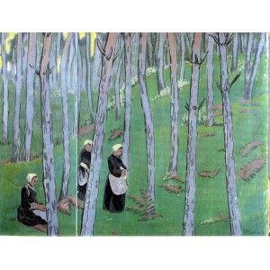 Les ramasseuses de champignons - Paul Sérusier (1864-1927) Post-Impressionism, Nabi