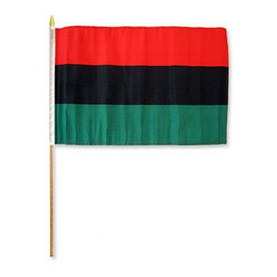 FlagsImporter Afro American Traditional Flag and Flagpole Set
