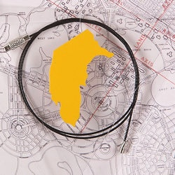 Canberra Map Necklaces & Brooches | Sean Booth