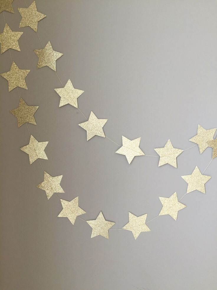 Twinkle Twinkle Little Star Gold Glitter Star Garland, First Birthday, Baby Shower, Twinkle Twinkle Little Star Decor, Birthday Decor, Gold by ConfettiBistro on Etsy https://www.etsy.com/listing/237680389/twinkle-twinkle-little-star-gold-glitter