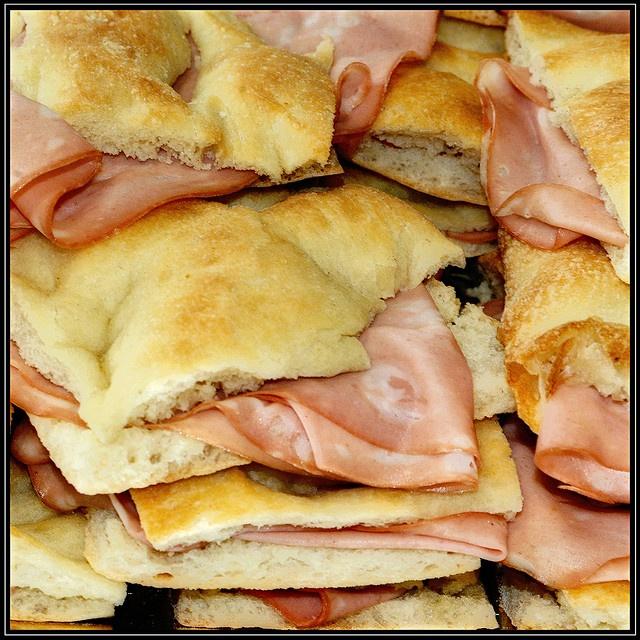 Pizza & Mortadella.... Favorite lunch meat in the world!!!