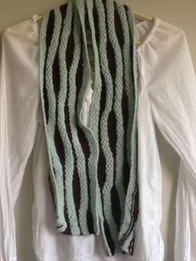 Free Knitting Pattern For Short Row Scarf : Free Knit Pattern Download -- This Short Row Ripple Scarf, designed by Maggie...
