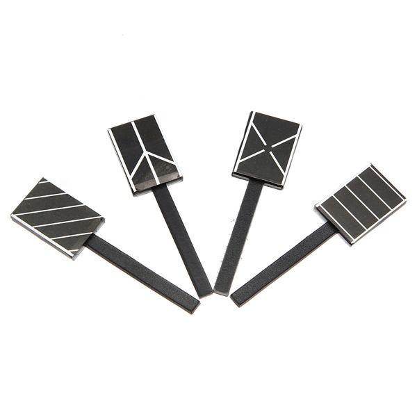 Zebra diy imán del arte del clavo 3d barra magnética tablero de palo de esmalte de magia