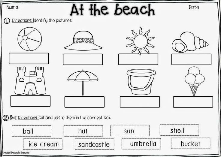 48 best Beach themed worksheets images on Pinterest
