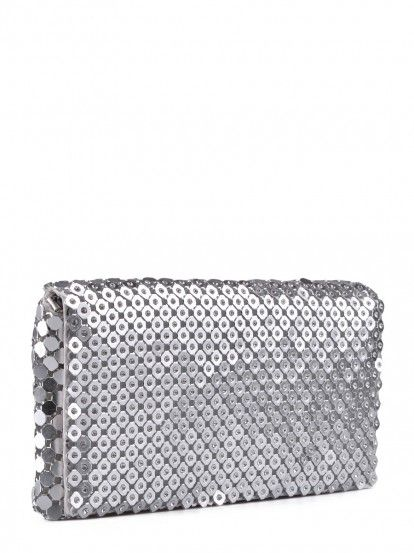 Poșetă plic de damă TENDENZ - argintiu