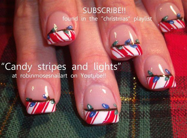 Christmas nails soooo cute :-)