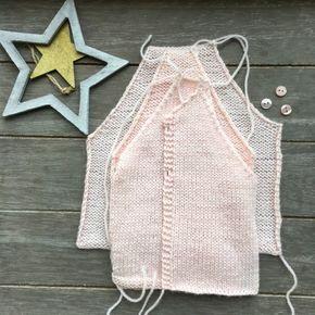 Malha a Malha   Handmade Life: esquema casaco bebé #2   baby vest pattern #2