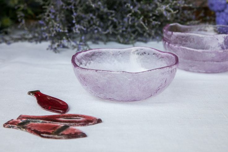 Aqua Handmade Watercolor Glass Side Bowls – DishesOnly