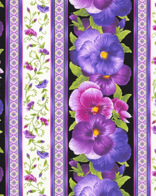 Viola - Blooming Violet Stripe - Quilt Fabrics from www.eQuilter.com