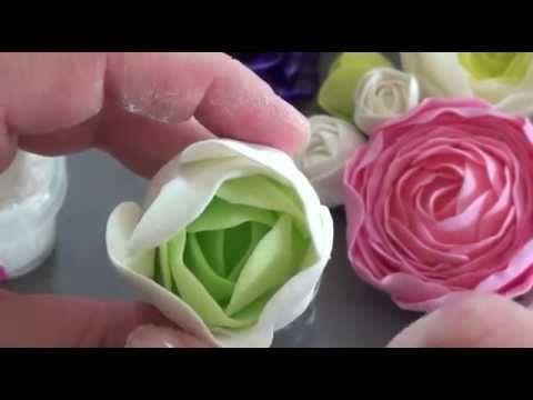 rose et pivoine en porcelaine froide