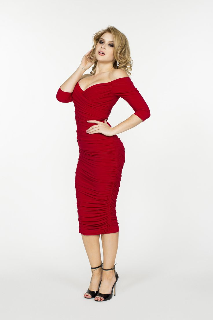 Laura Byrnes California Monica Vintage Style Dress in Red   Pinup Girl Clothing