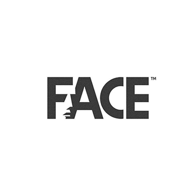 Face logo showing some sublime negative space