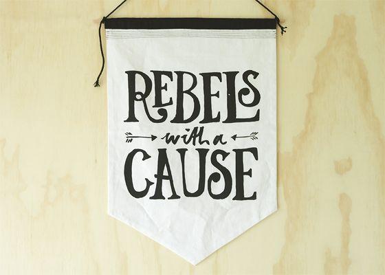 Rebels Wall Flag