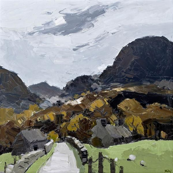 View Sir Kyffin Williams   Autumn Waunfawr at Rowles Fine Art