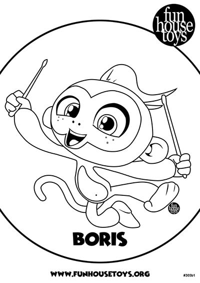 boris coloring pages Fingerlings Printable Coloring Pages Visit funhousetoys. boris coloring pages