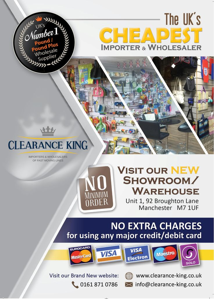 Clearance King is the cheapest ‪#‎wholesaler‬ & ‪#‎importer‬ of pound lines and pound plus supplies in ‪#‎UK‬. Visit us now: http://www.clearance-king.co.uk