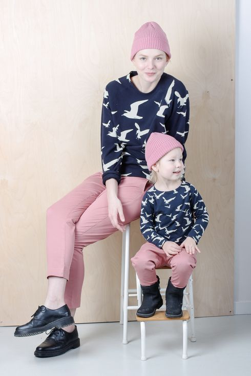 EM Annie Chinos Oldpink - emma och malena