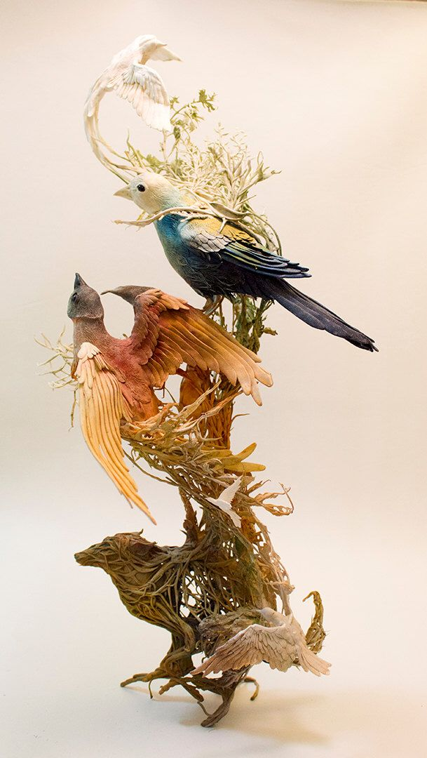 all those days we flew together - original handmade OOAK clay art sculpture by creaturesfromel on Etsy https://www.etsy.com/listing/219132453/all-those-days-we-flew-together-original